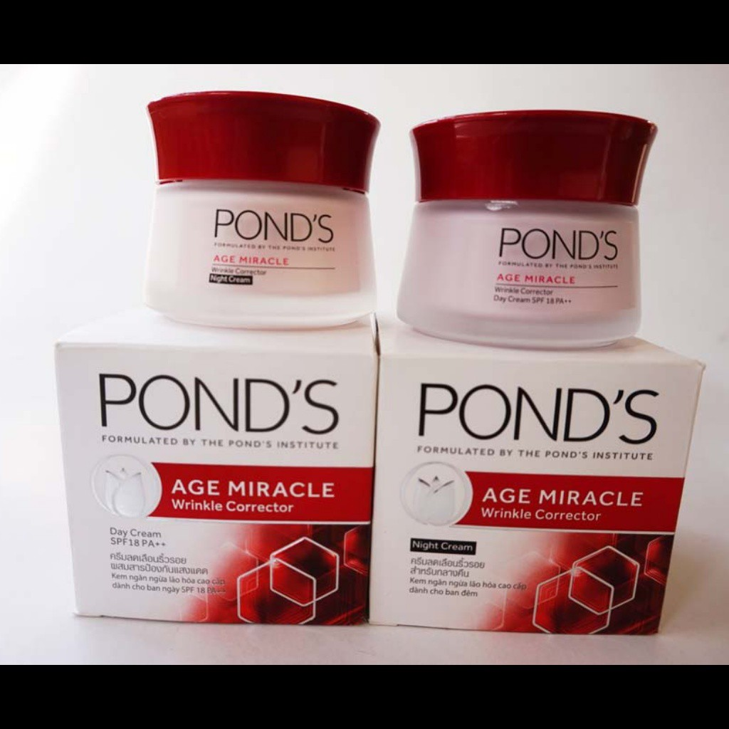 Paket Ponds Age Miracle Night Day Cream Spf 18 Pa 10gr Shopee Londs 10g Indonesia