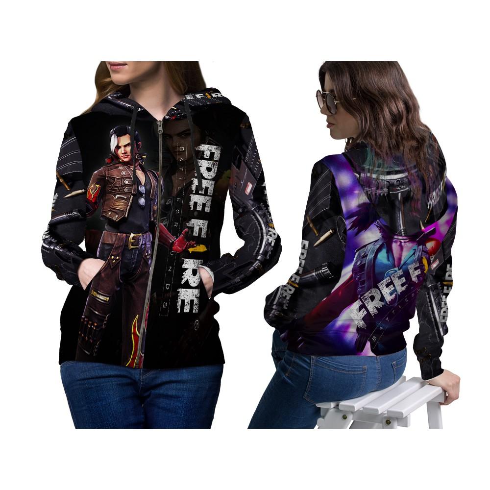 Jaket Zipper Free Fire Hayato Dewasa Keren Laki Laki Dan Perempuan Fullprint Custom Shopee Indonesia