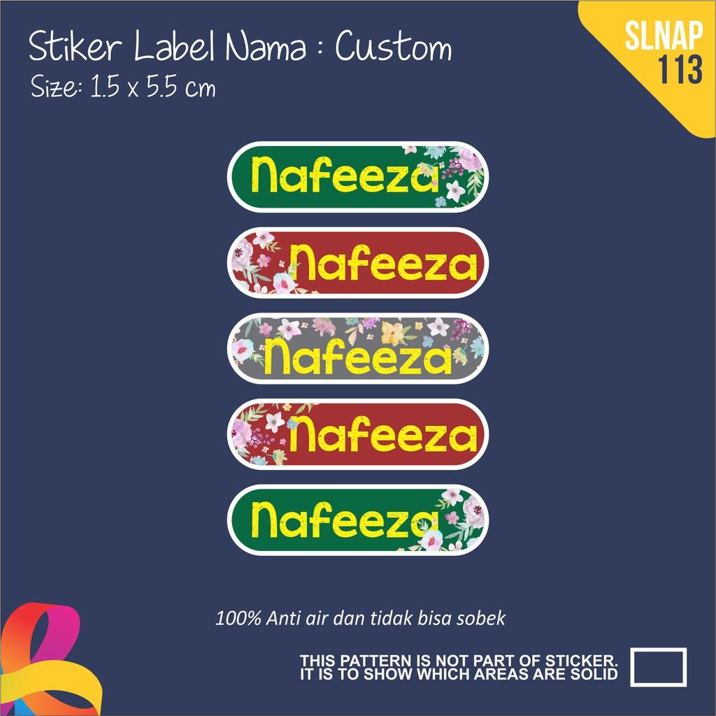Slnag 081 sticker nama anak kartun girl boy dino lucu binatang funny shopee indonesia