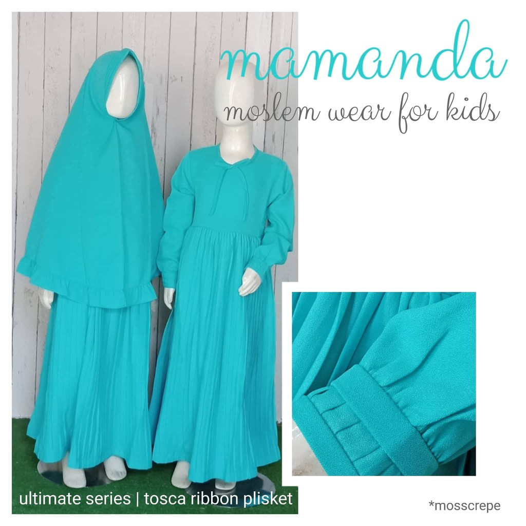 Gamis Anak Tosca Ribbon Plisket Ultimate Series by Mamanda
