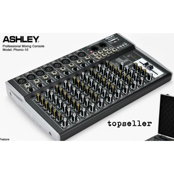 Mixer Audio ASHLEY PHONIC 10 PLUS HARDCASE ORIGINAL PRODUCT ASHLEY | Mixer Audio