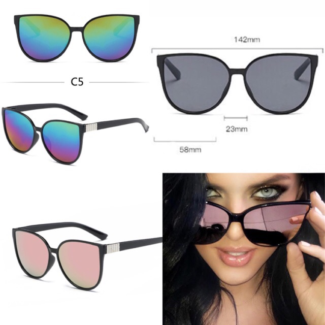 Rectangle sunglasses 2018 kacamata kotak kacamata persegi lensa kuning pink black  gold  bbe40ca401
