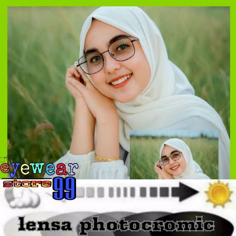 KACAMATA PHOTOCROMIC ANTIRADIASI 6639   kacamata + lensa photocromic.