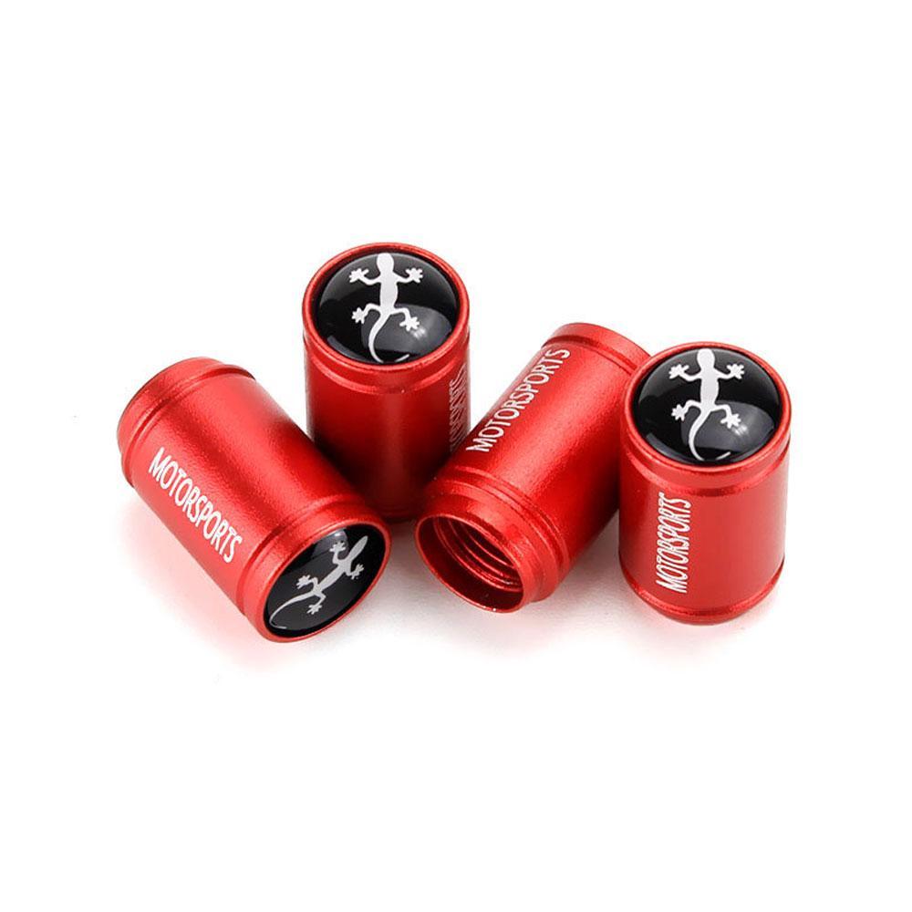 Black 4 Pcs//Set Tire Valve Dust Caps Gecko Style Aluminum Alloy for Cars VW Audi Toyota Honda BMW Benz