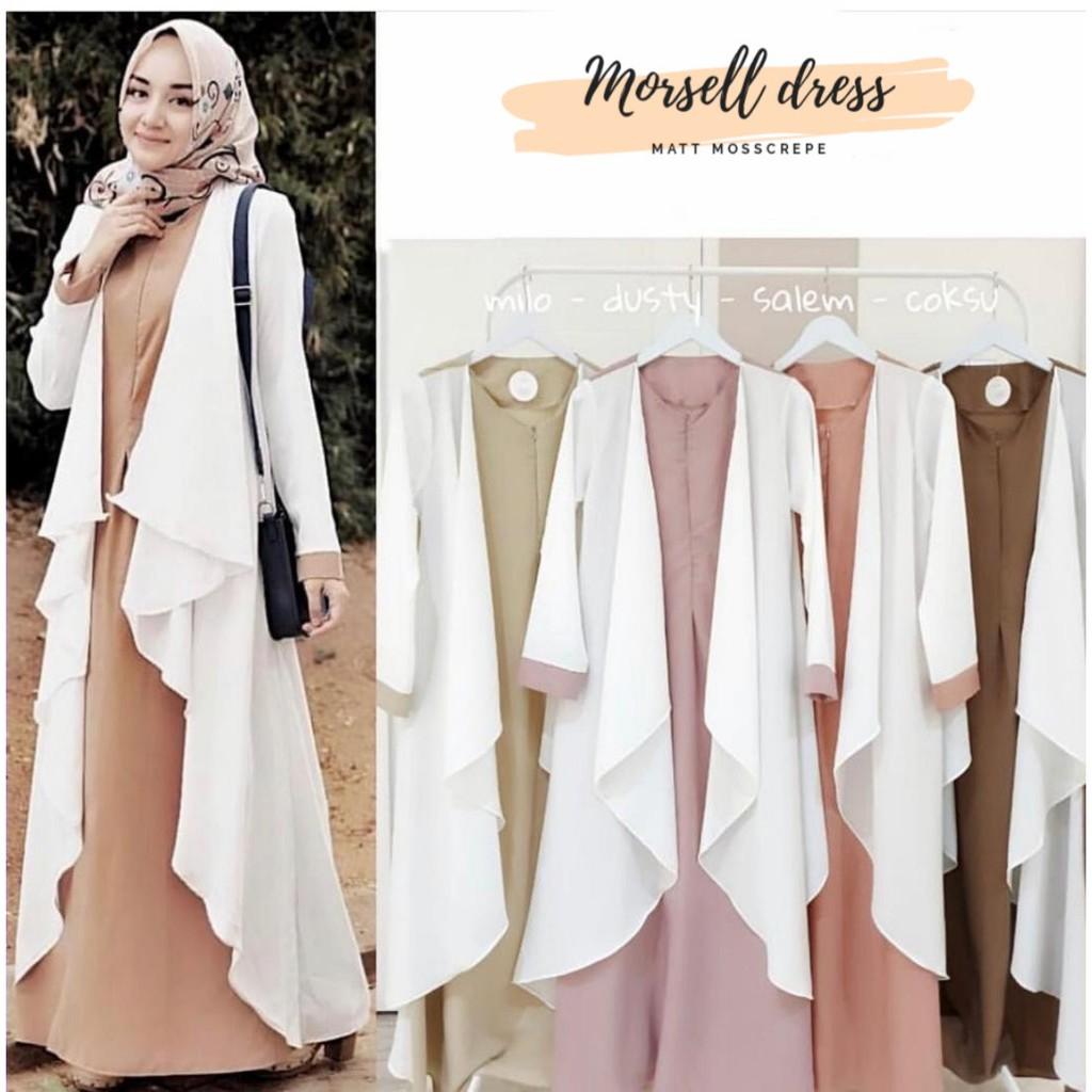 MORSEL DRESS Mosscrape Baju Gamis Wanita Hijab Muslimah Murah ASDF Baju  Model Terbaru Dan Kekinian
