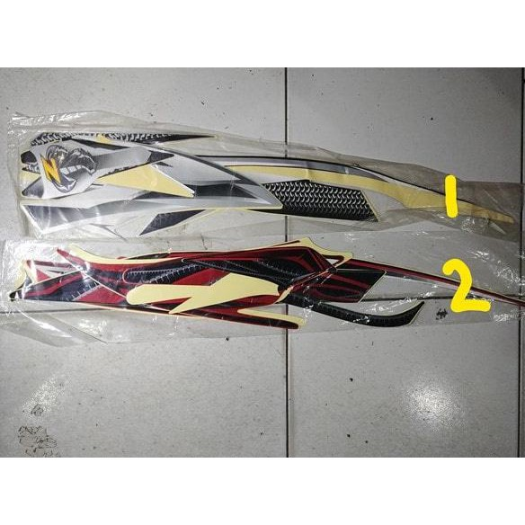 Striping lis&Stiker Body&Stiker Motor Scorpio Z 2007 ...