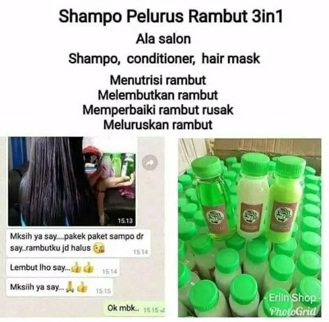 Shampoo Pelurus Rambut 3 In 1 Shampo Conditioner Hair Mask Shopee Indonesia