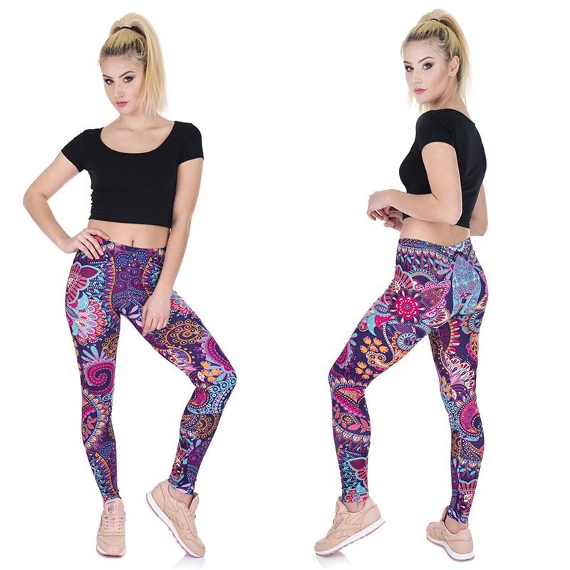 Celana Panjang Legging Motif Bunga Mandala Untuk Yoga Gym Lari Shopee Indonesia