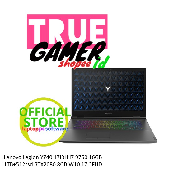Laptop Lenovo Legion Y740 17irh I7 9750 16gb 1tb 512ssd Rtx2080 8gb W10 17 3fhd Shopee Indonesia
