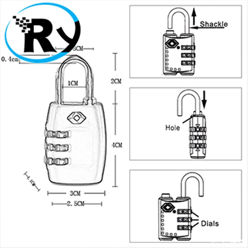 Diskon Mudik Gembok Tas Koper YiFeng Padlock 3 Digit Combination TSA 335 - Black | Shopee Indonesia