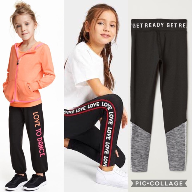 H M Girls Sport Legging Dance Pants H M Sport Legging Legging Hnm Shopee Indonesia