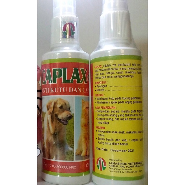 Caplax Spray Obat Kutu Kucing Anjing Kelinci Shopee Indonesia