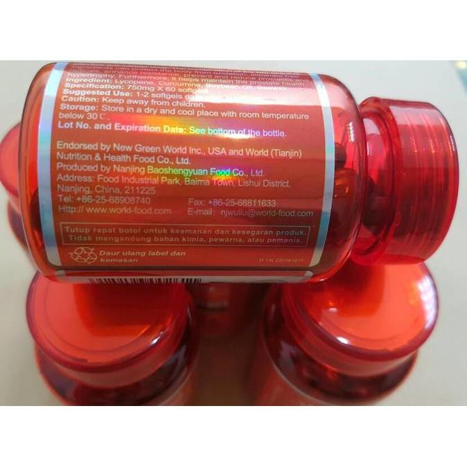 Produk Baru Obat Prostat/Kencing Tidak Lancar/Kanker/Lycopene Softgel Green World Promo
