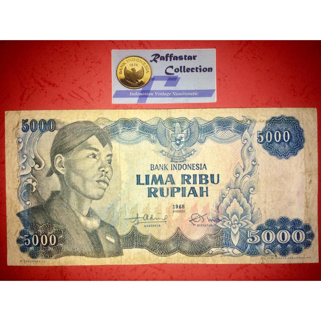 uang lama 5000 Sudirman 1968 VF
