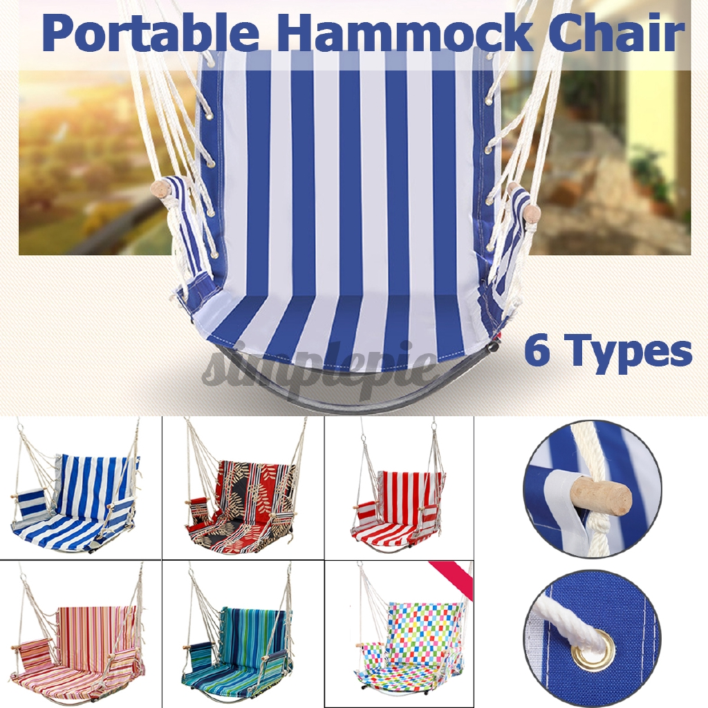Double U Shaped 65x55x65cm 6 Styles Capacity High Quality Hammock Hanging Rope Chair Swing Chair Seat For Garden Yard Room Use Gifts Shopee Indonesia