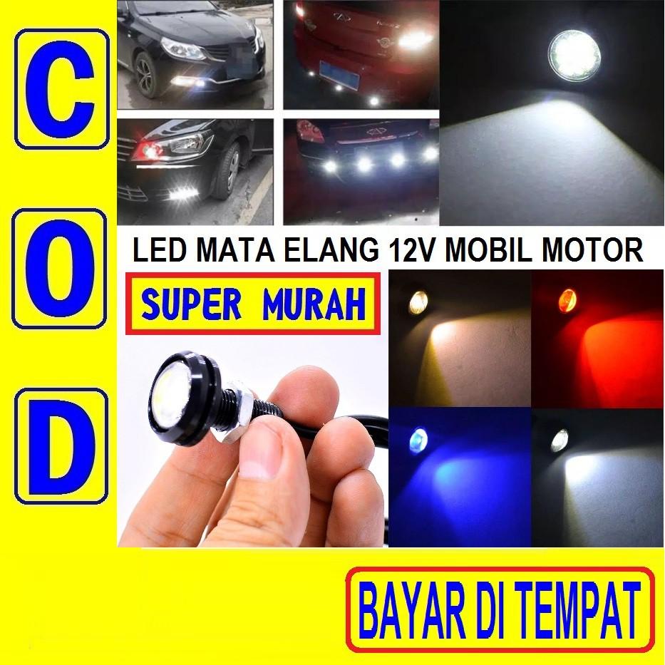 Cod Bayar Di Tempat Led Baut Mata Elang 23mm Besar Lampu Senja Kabut Motor Mobil Eagle Eye 12v Volt Shopee Indonesia