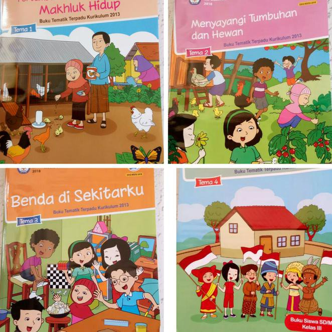 Paket Buku Anak Sekolah Buku Pelajaran Sekolah Sd Mi Tematik Kelas Iii Tema 1 4 Bg0365 Shopee Indonesia