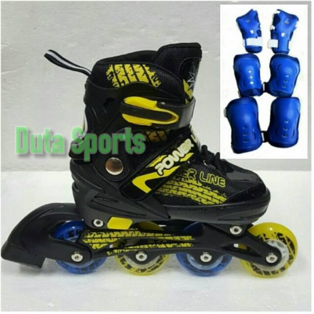 Sepatu Roda POWER SUPERB + DEKER   Inline Skate Anak dan Dewasa Satu Set  77b056e5eb