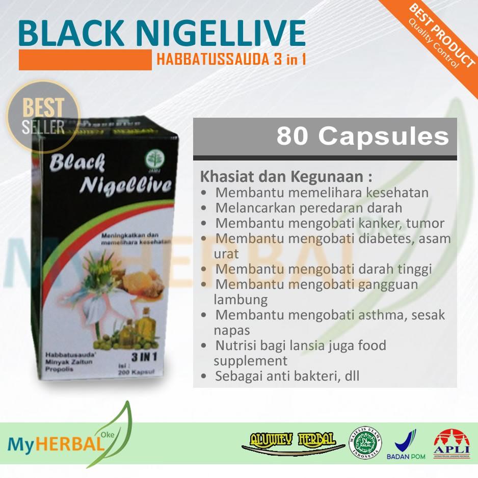 Habbatussauda Black Nigellive 3in1 200 Kapsul Jinten Hitam Minyak Habatussauda Plus Propolis Trigona Zaitun Obat Kanker Shopee Indonesia