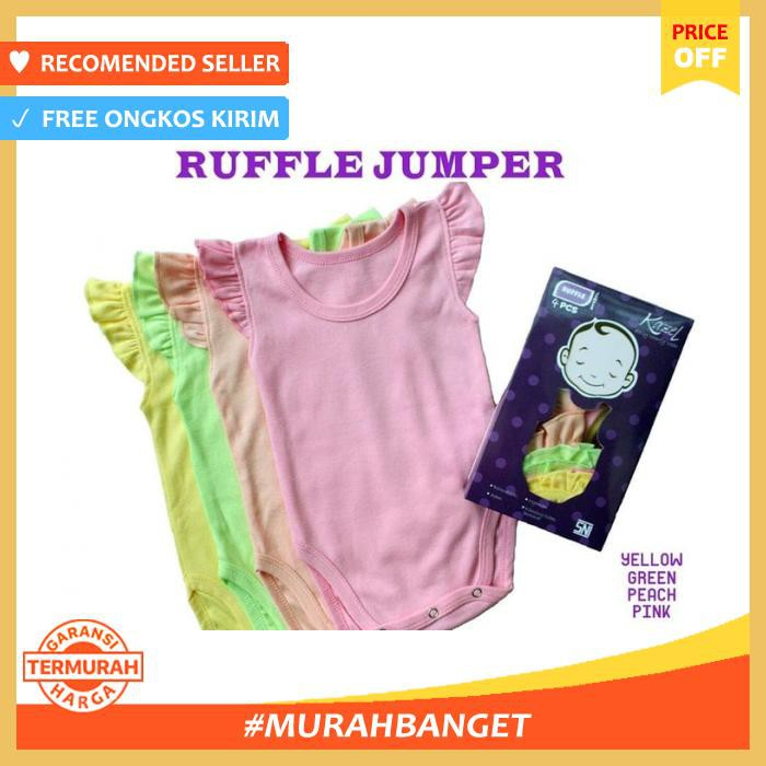 Ruffle Jumper Kazel / Jumper Baby Girl Nb 0 3 Bulan - Baju & Sepatu Bayi