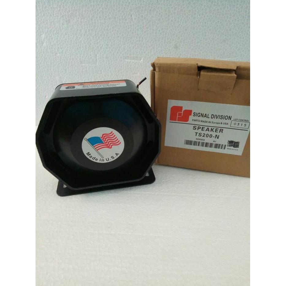 Sirine Federal Signal Q7 Volume Control 200w Speaker Chromeoriginal Strobo Roof Top Atap 6 X Ori