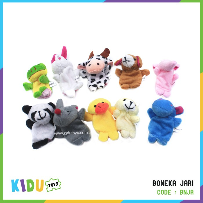 10x Mainan Boneka Mewah Boneka Jari Hewan Biologis Kartun  de72e95b48
