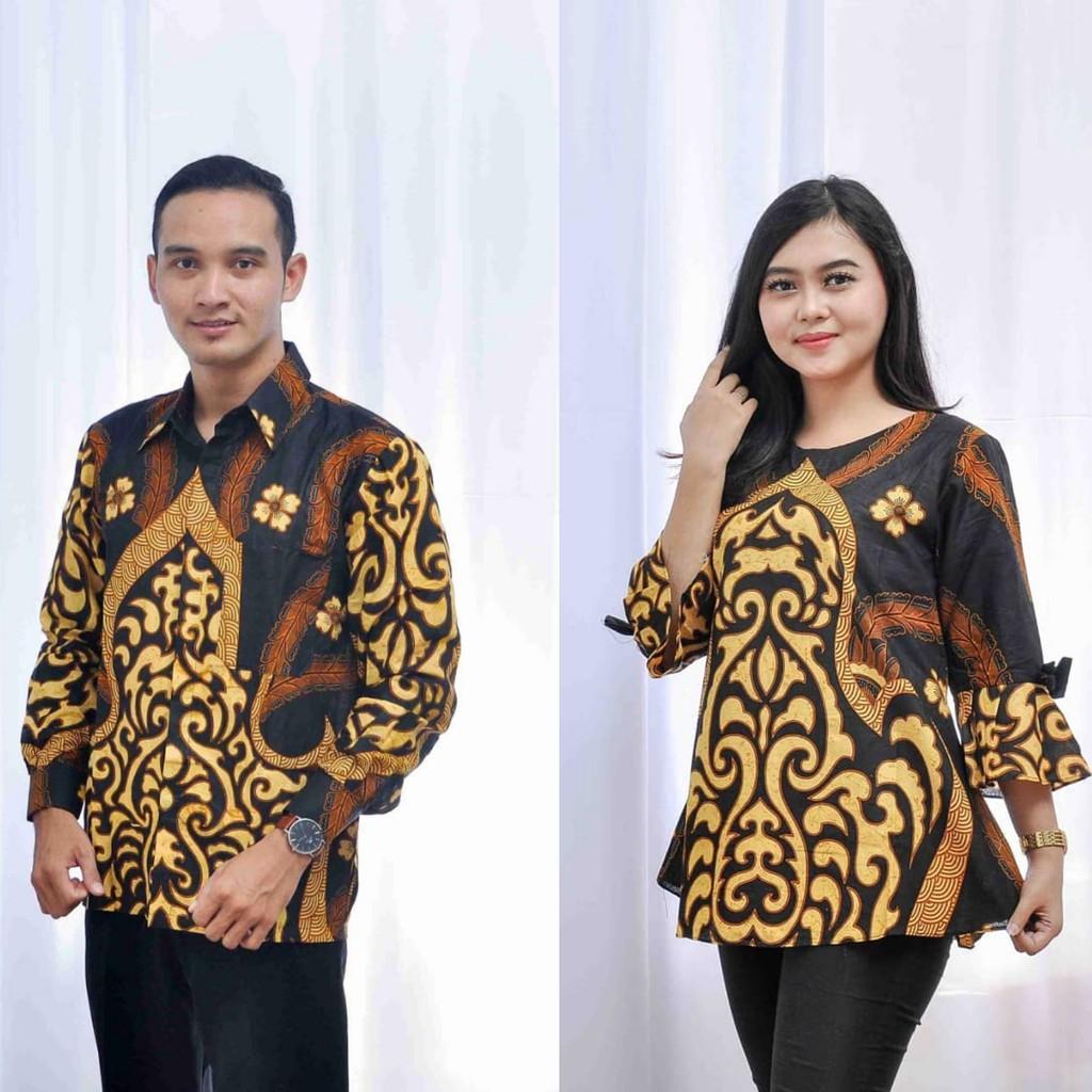 Keluarga Batik Couple Sarombit Seragaman Kondangan Tanah Abang Wanita Murah Princess Azkana Sogan