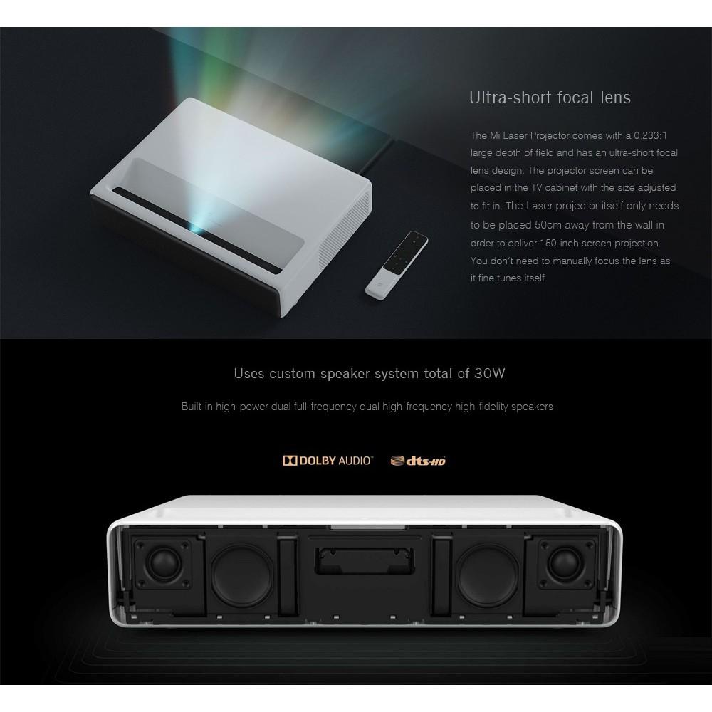Xiaomi Mi Ultra Short 5000 ANSI Lumens Laser Projector - WHITE