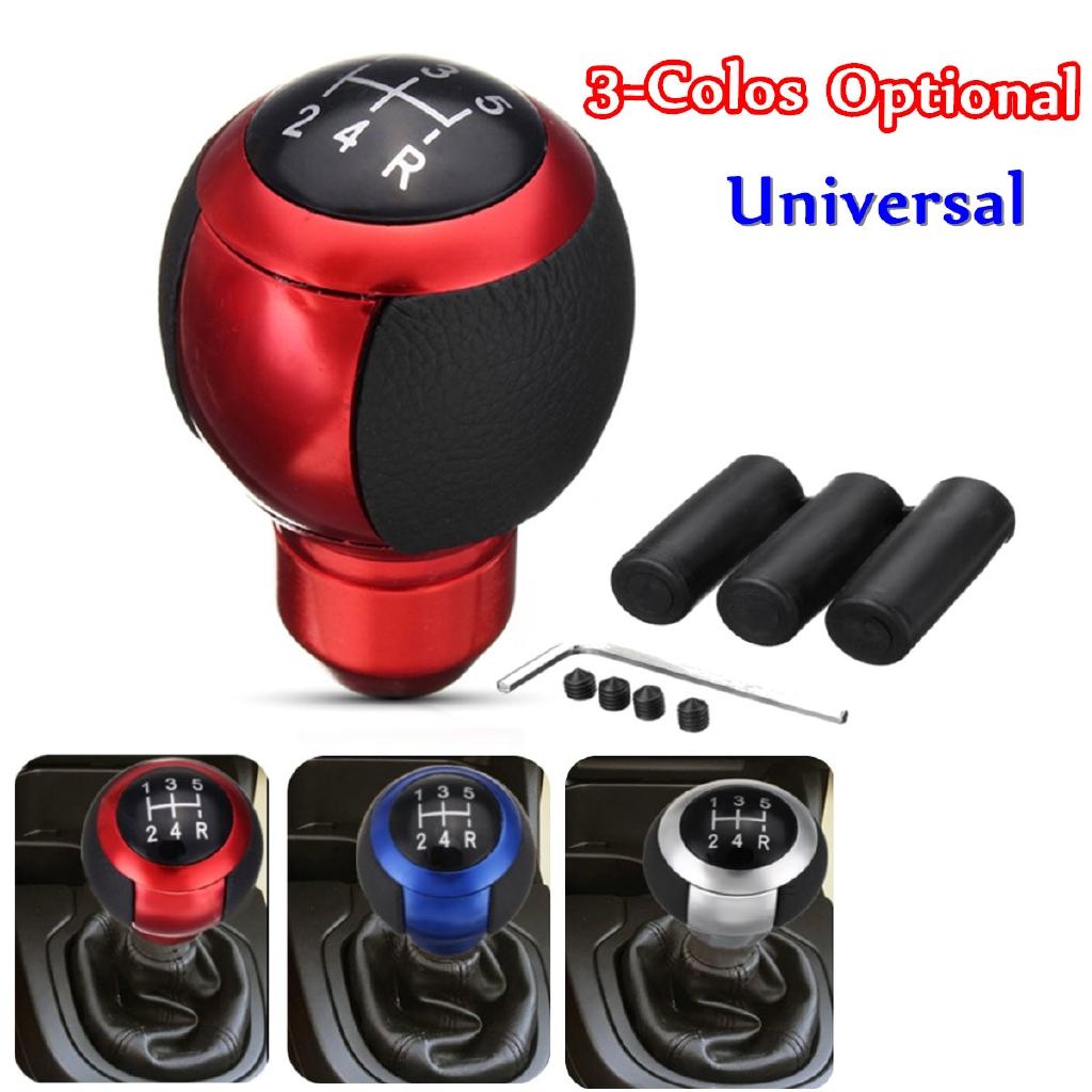 Red Universal Car Truck Manual Gear Stick Shift Knob Shifter Lever Carbon Fiber