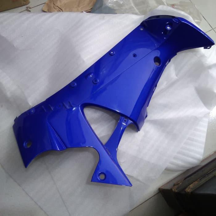 cover M/P supra x 125 biru kiri. 64450-KTM-850SBM
