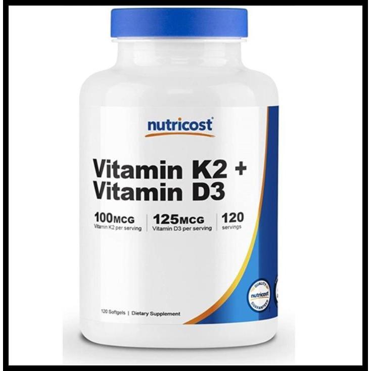Vitamin D3 5000Iu + K2 90Mcg - 120 Capsules - Almafit