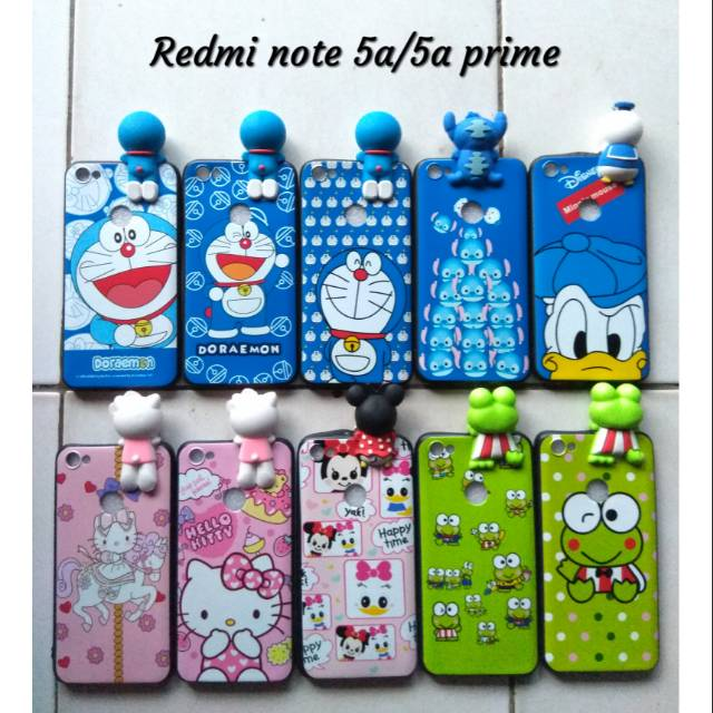 Softcase case gantungan 3D boneka Xiaomi Redmi Note 5A prime doraemon stand  by me hello kitty cute  40a616a870