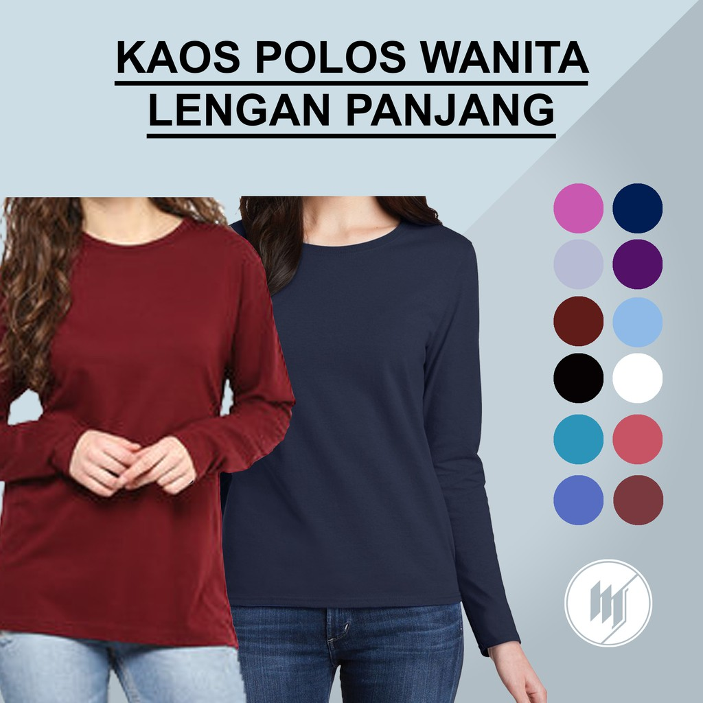 T-Shirt / Tumblr Tee / Kaos Wanita Lengan Panjang Stay Simple Warna Pink | Shopee Indonesia