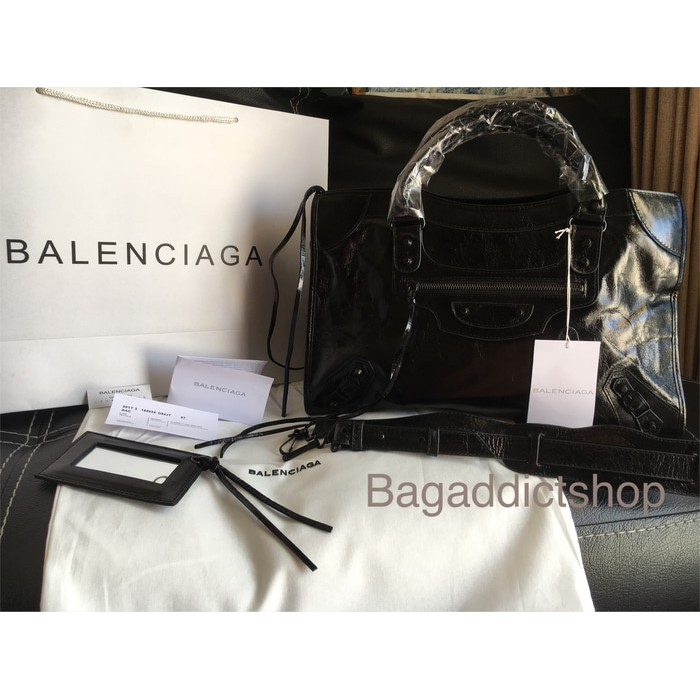 Tas BALENCIAGA Regular city S Black noir Mirror 1 1 Ori leather VIP ... 39eeec9408
