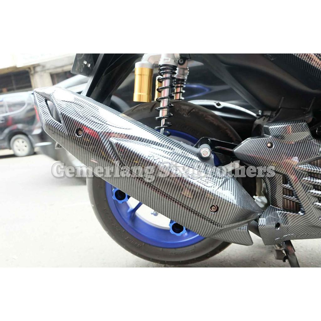 Tutup Knalpot Cover Pelindung Protector Muffler A Vario 150 Motor Honda 110 18318kvbn50 Shopee Indonesia