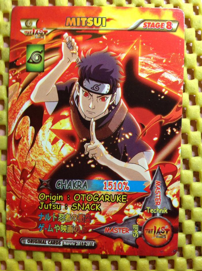 Kartu naruto shipuden master jutsu snack ninja mitsui card hobby promo