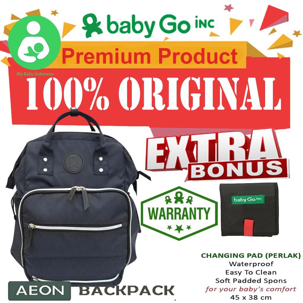 Babygo Inc Ollio Cooler Diaper Bag Backpack Baby Go Babygoinc Metro Blue Goinc Tas Asi Bayi Shopee Indonesia