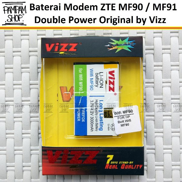 DISKON Baterai Vizz Original Double Power Modem Bolt ZTE MF90 MF91 Original OEM Battery Batrai Batre