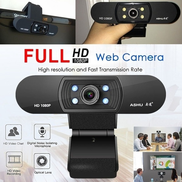 Cod 1080p Hd Usb Desktop Webcam Camera With Microphone Clip On 2 0 Megapixel Cmos Camera Webcam Shopee Indonesia