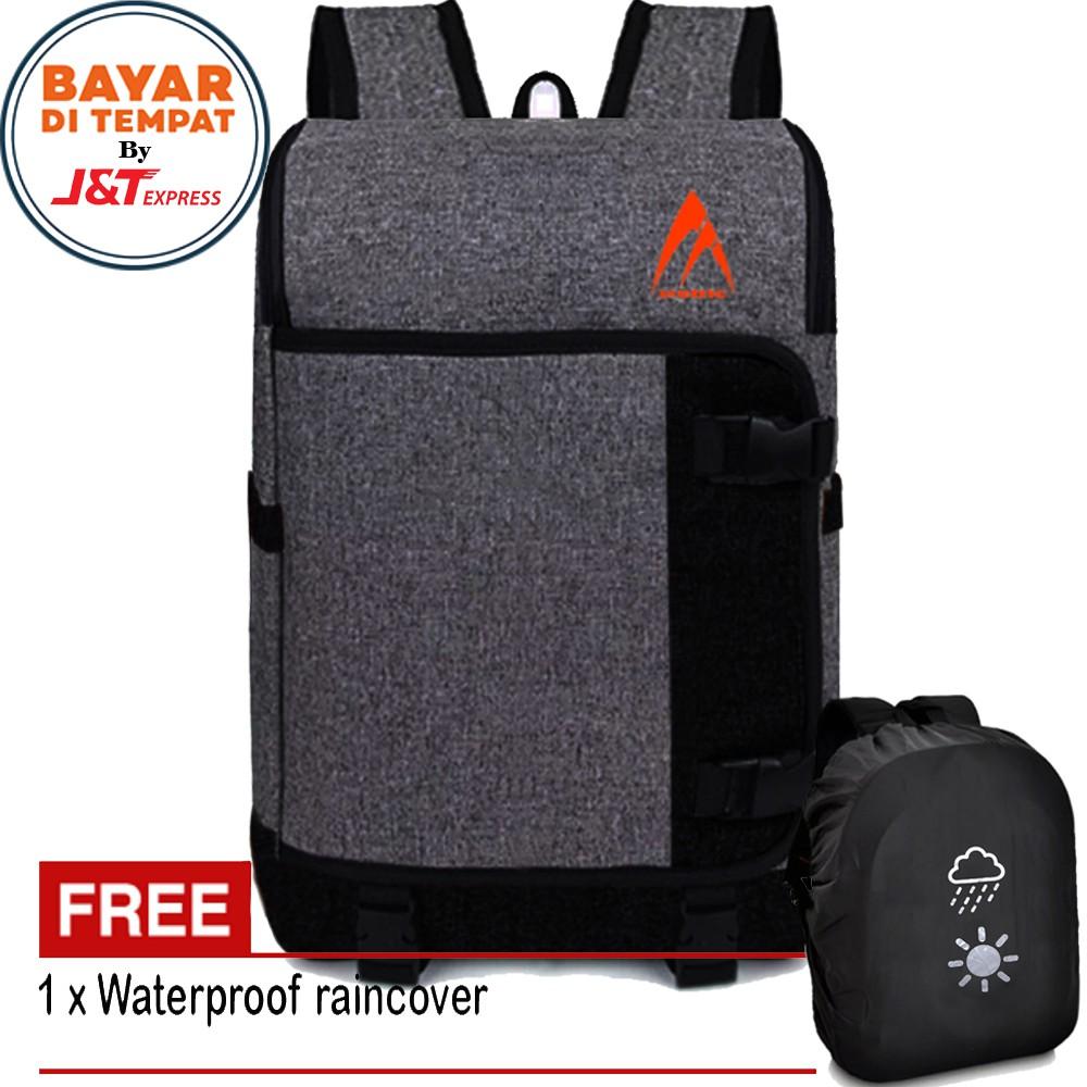 Metric Tas Pria Tas Sling Bag Tas Selempang Pria Bisa Difungsikan Ransel Tas  Gadget Original - Grey  c1153e9803
