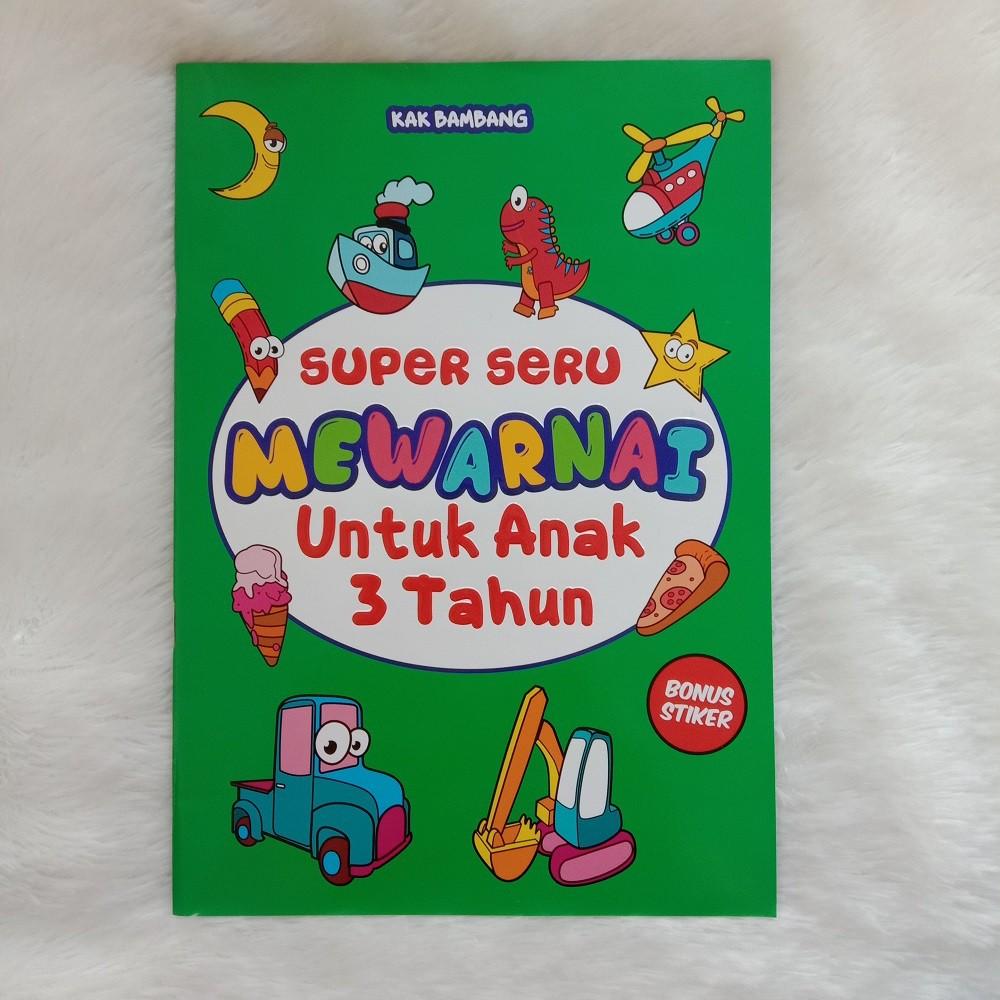 Buku Mewarnai Anak Super Seru Mewarnai Untuk Anak 3 Tahun