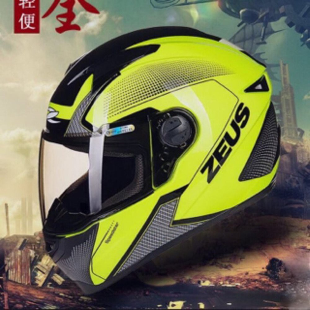Helm Zeus Z 610 Glossy Black Half Face Double Visor Shopee Indonesia Zs