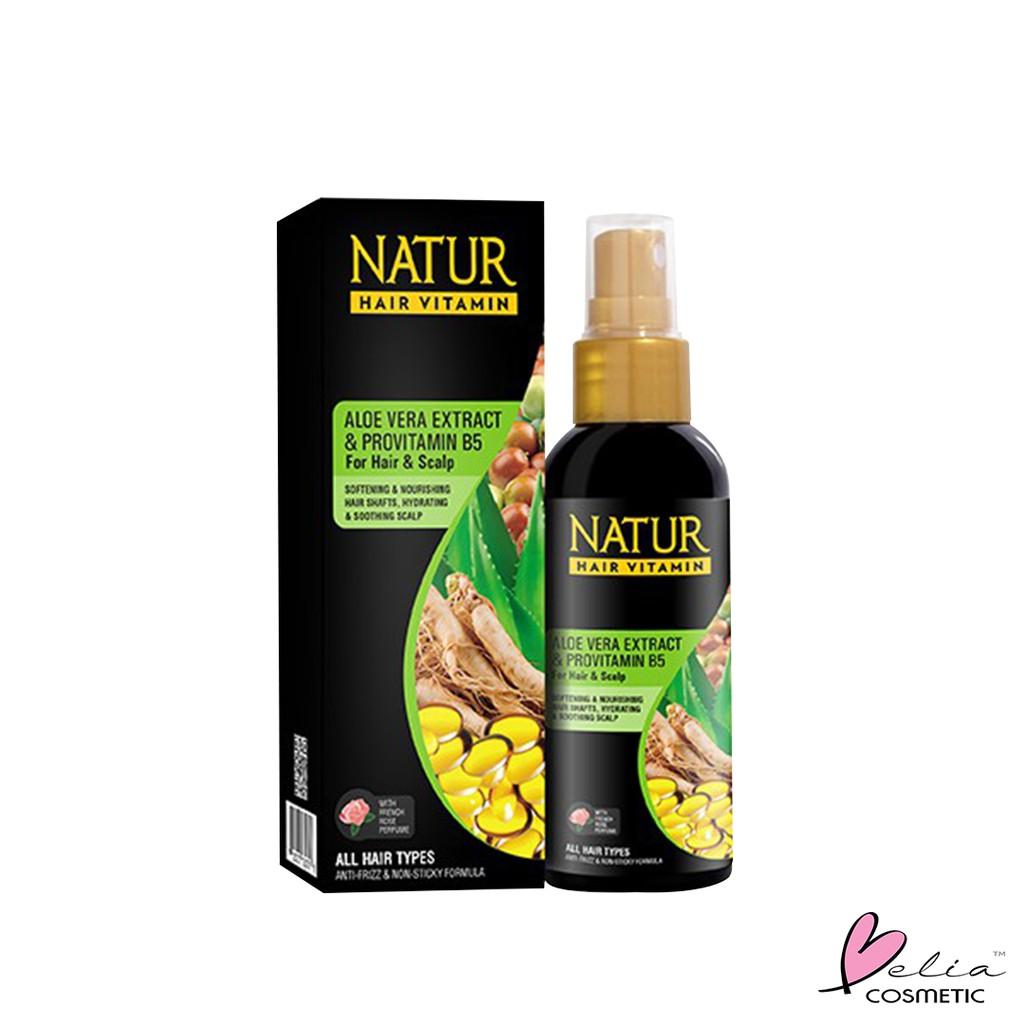 ❤ BELIA ❤ NATUR Hair Mask   Hair Vitamin   2 in 1 Shampoo & Hair Tonic(✔️BPOM)-N.HVitaminAloe 80mL