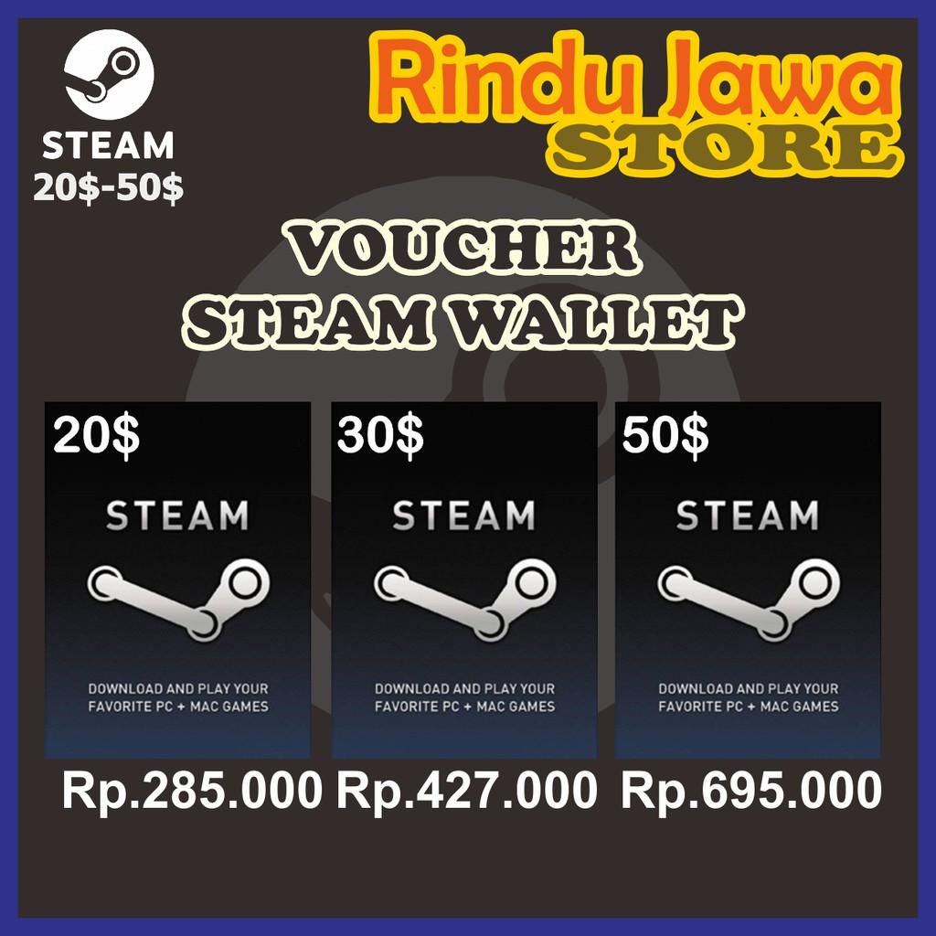 Voucher Steam Wallet Usd 20 50 Shopee Indonesia