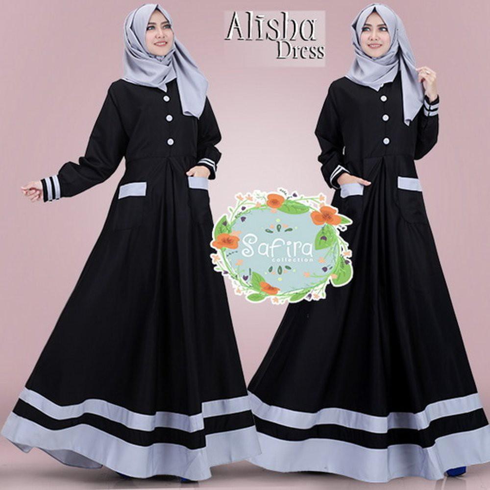 Dress Wanita Lengan Panjang Model Vintage Elegan Slim Versi Korea Print Bunga Ada Ukuran Besar
