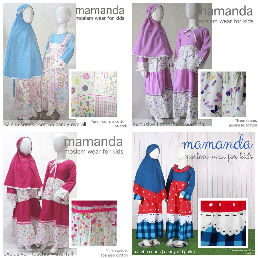Gamis Anak Fuschia Waterfall Exclusive Series by Mamanda