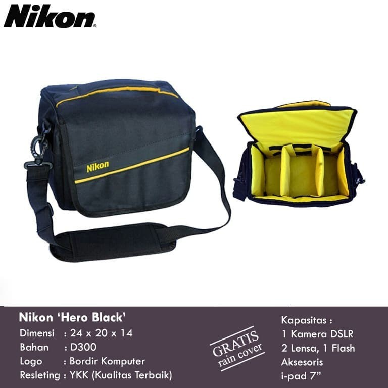 bisa bayar ditempat - Tas Kamera DSLR Mirrorless Canon Nikon Natgeo Gratis Raincover kode T K H A B   Shopee Indonesia