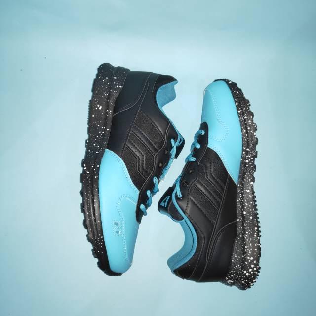 Sepatu Casual Piero Jogger Premium Truffle Mint (Black/Mint/White)