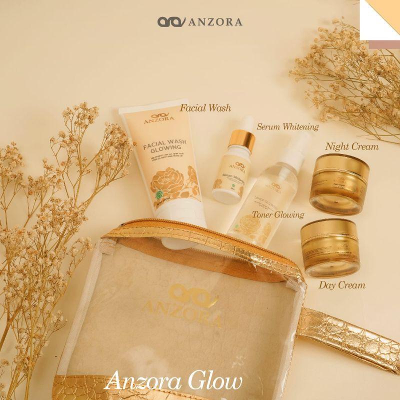 DISTRIBUTOR RESMI Anzora skincare/Anzora acne/anzora glow/cream jerawat/paket