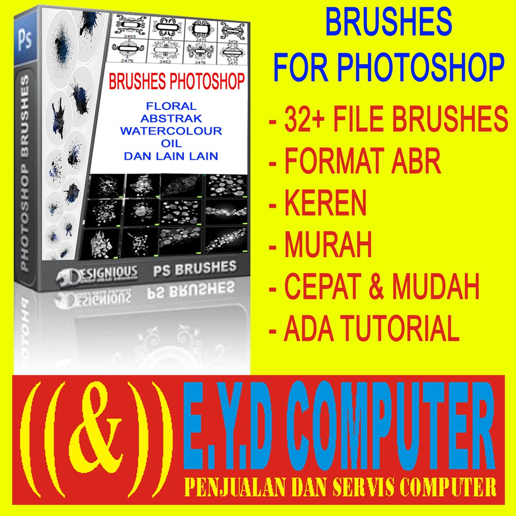Brushes Untuk Photoshop Floral Abstrak Watercolour Oil Brick Coffee Koleksi Brus Brush Bruses Usaha Shopee Indonesia